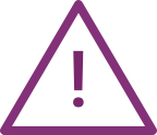 Icon warning purple